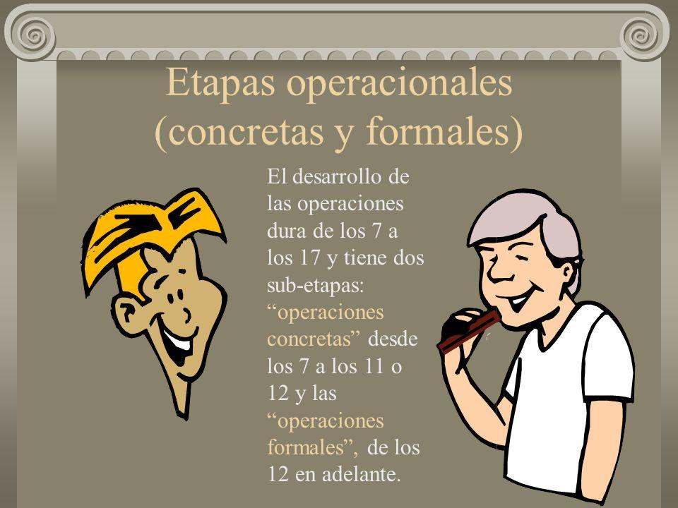 Etapas operacionales (concretas y formales)