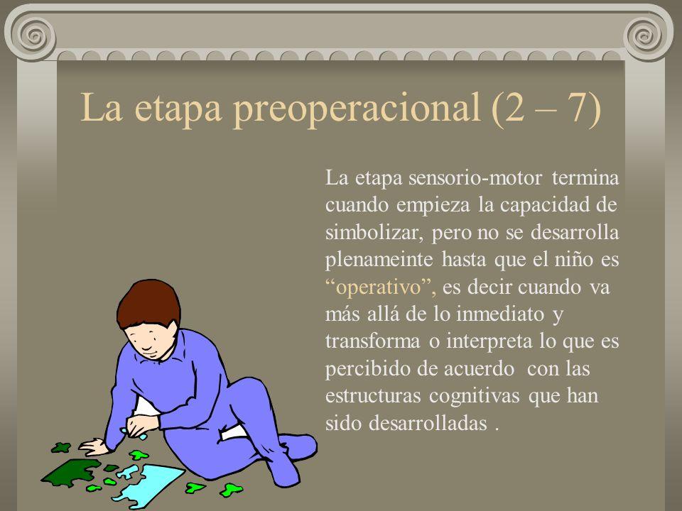 La etapa preoperacional (2 – 7)