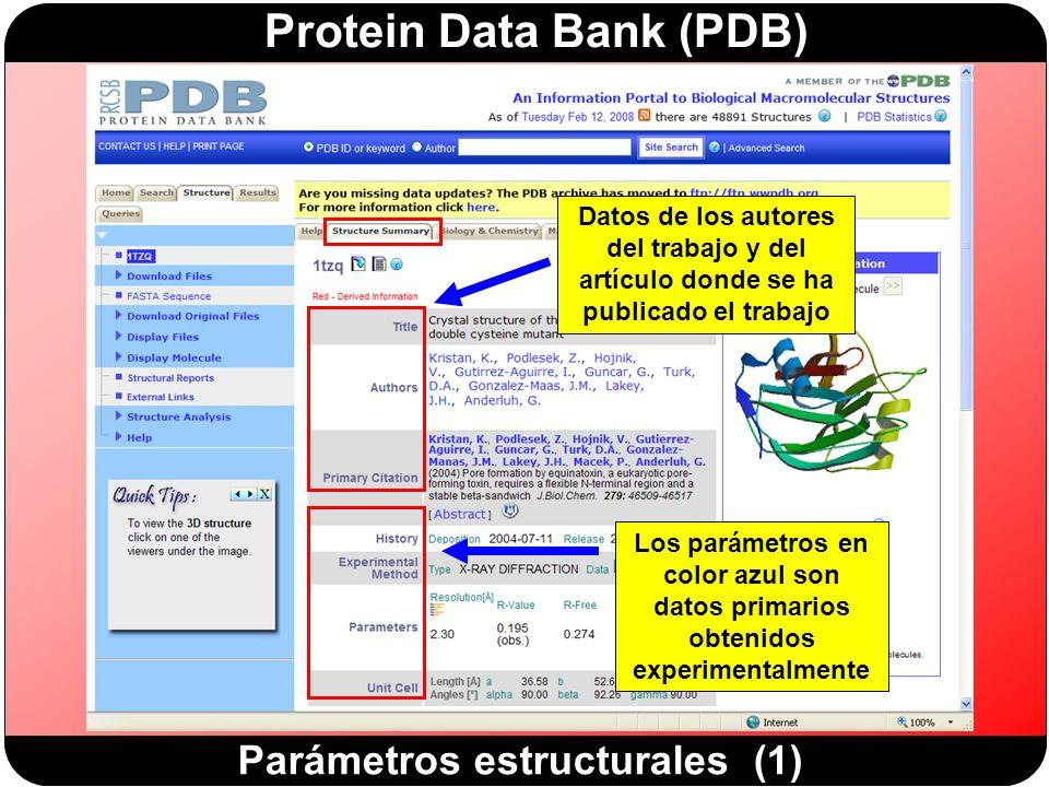 Parámetros estructurales (1)