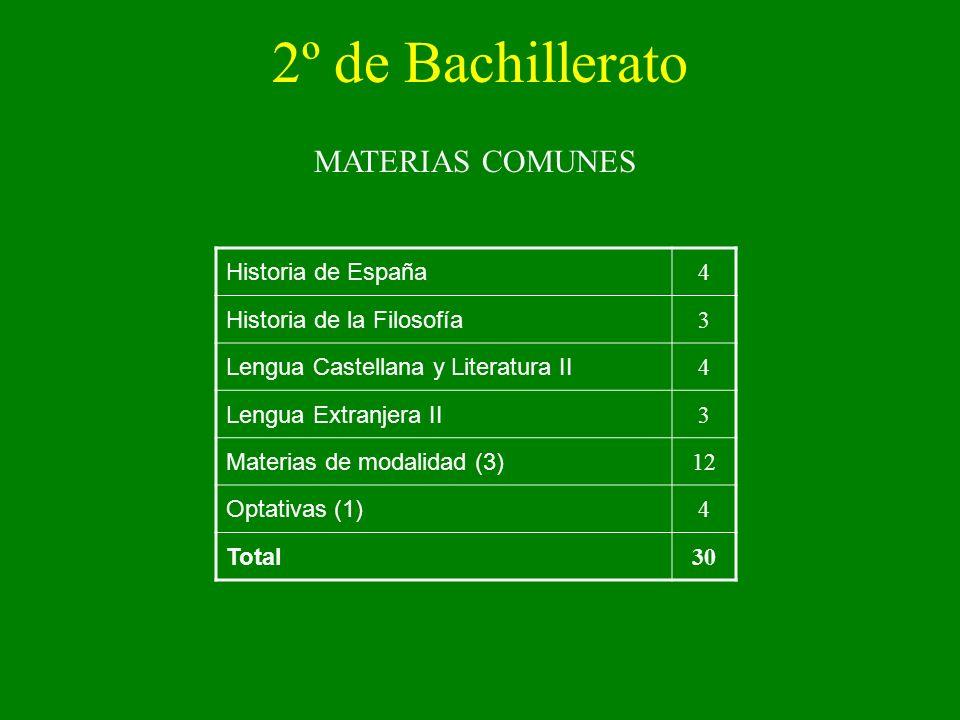 2º de Bachillerato MATERIAS COMUNES Historia de España 4