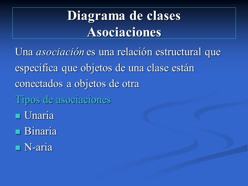Diagrama de clases Asociaciones