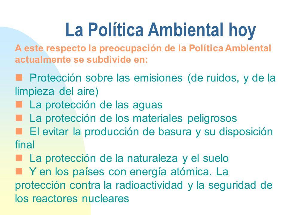 La Política Ambiental hoy
