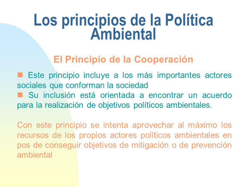 Los principios de la Política Ambiental