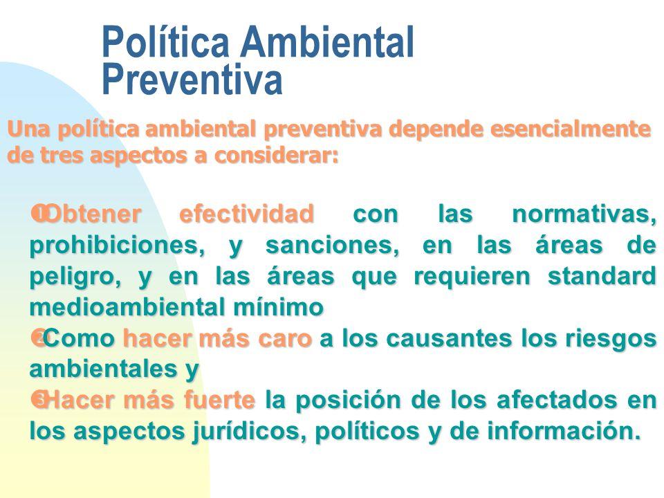 Política Ambiental Preventiva