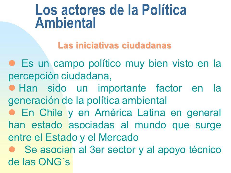 Los actores de la Política Ambiental