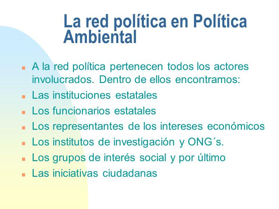 La red política en Política Ambiental