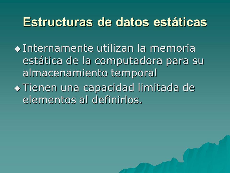 Estructuras de datos estáticas