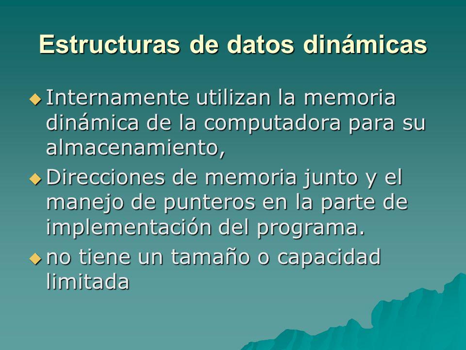 Estructuras de datos dinámicas