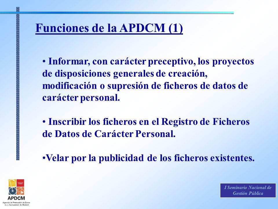 Funciones de la APDCM (1)