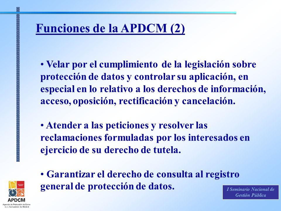 Funciones de la APDCM (2)