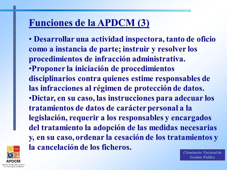 Funciones de la APDCM (3)
