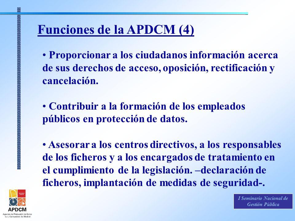 Funciones de la APDCM (4)