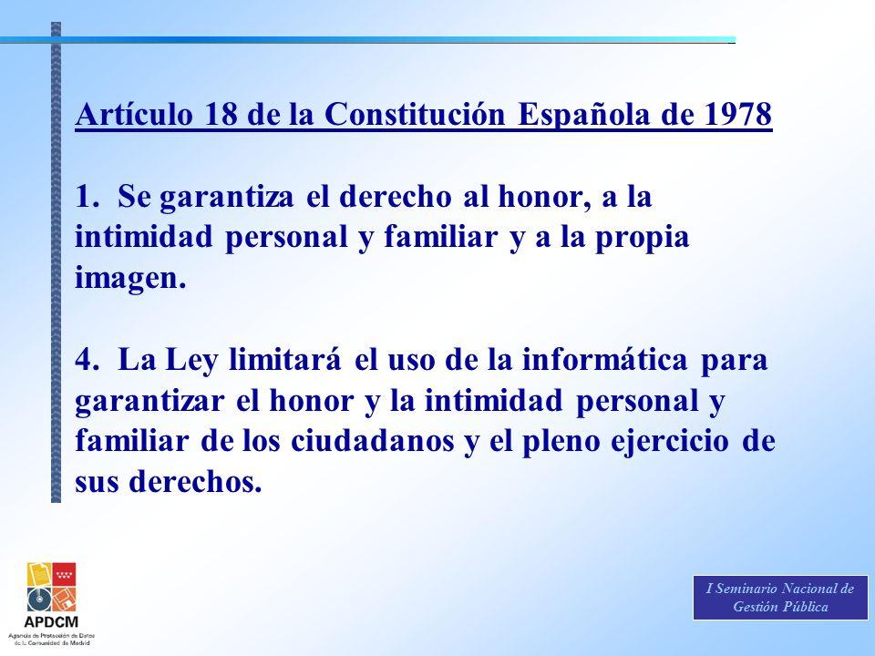 Artículo 18 de la Constitución Española de 1978 1