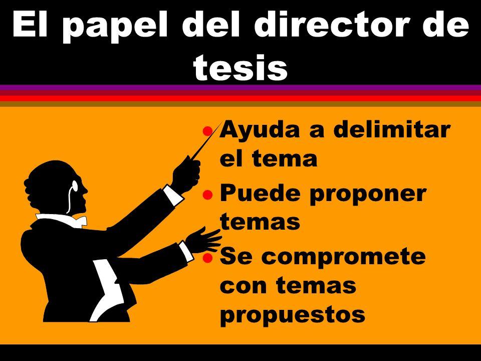 El papel del director de tesis