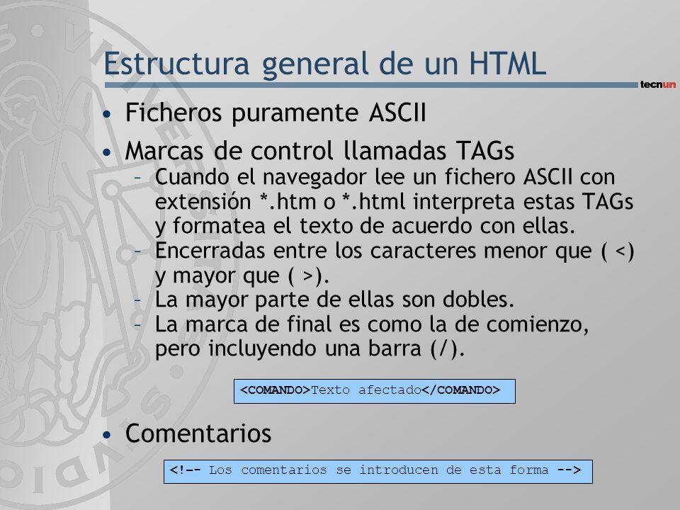 Estructura general de un HTML