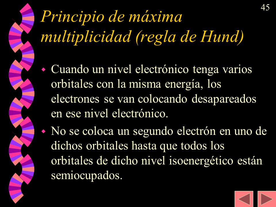 Principio de máxima multiplicidad (regla de Hund)
