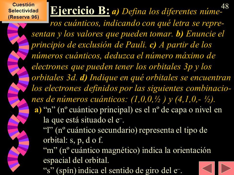 Cuestión Selectividad (Reserva 96)