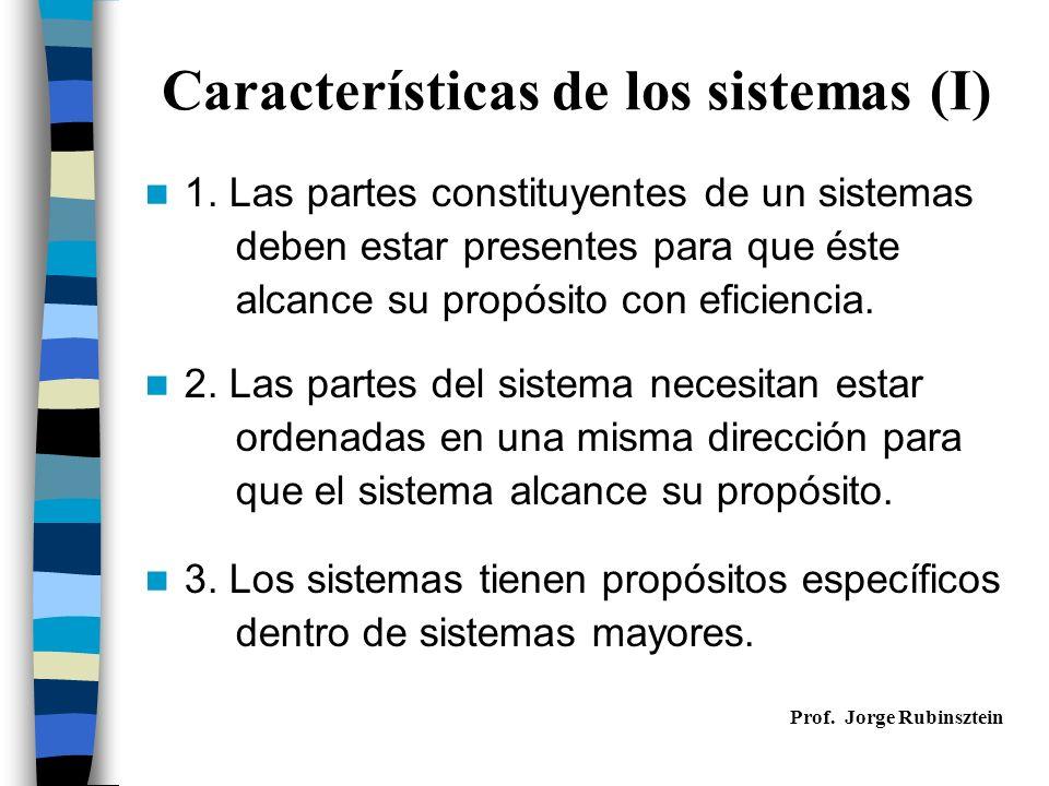 Características de los sistemas (I)