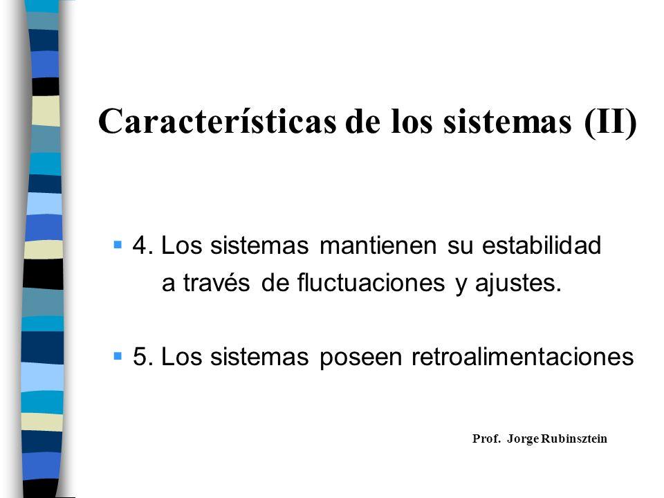 Características de los sistemas (II)
