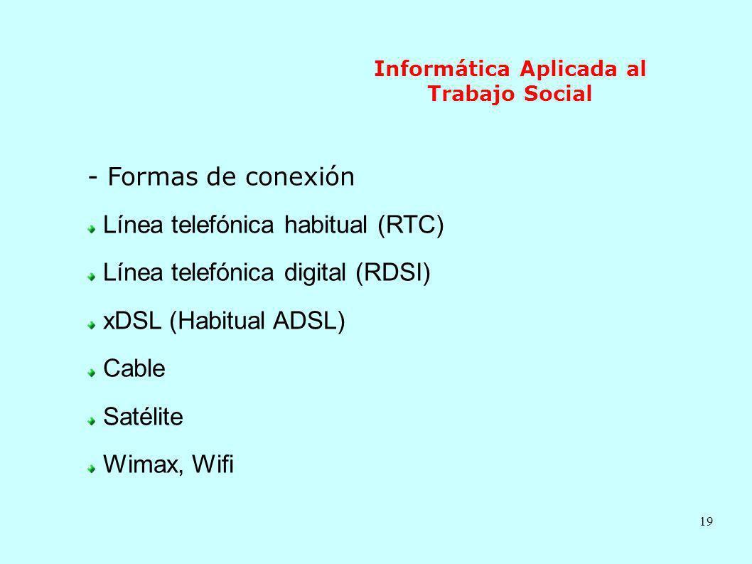 Informática Aplicada al Trabajo Social