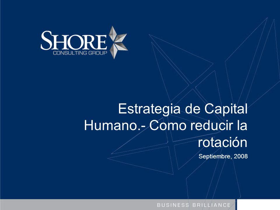 Estrategia de Capital Humano.- Como reducir la rotación