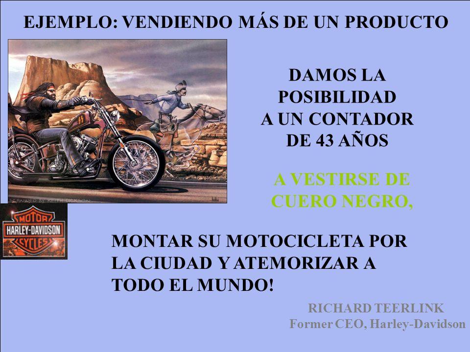 EJEMPLO: VENDIENDO MÁS DE UN PRODUCTO Former CEO, Harley-Davidson