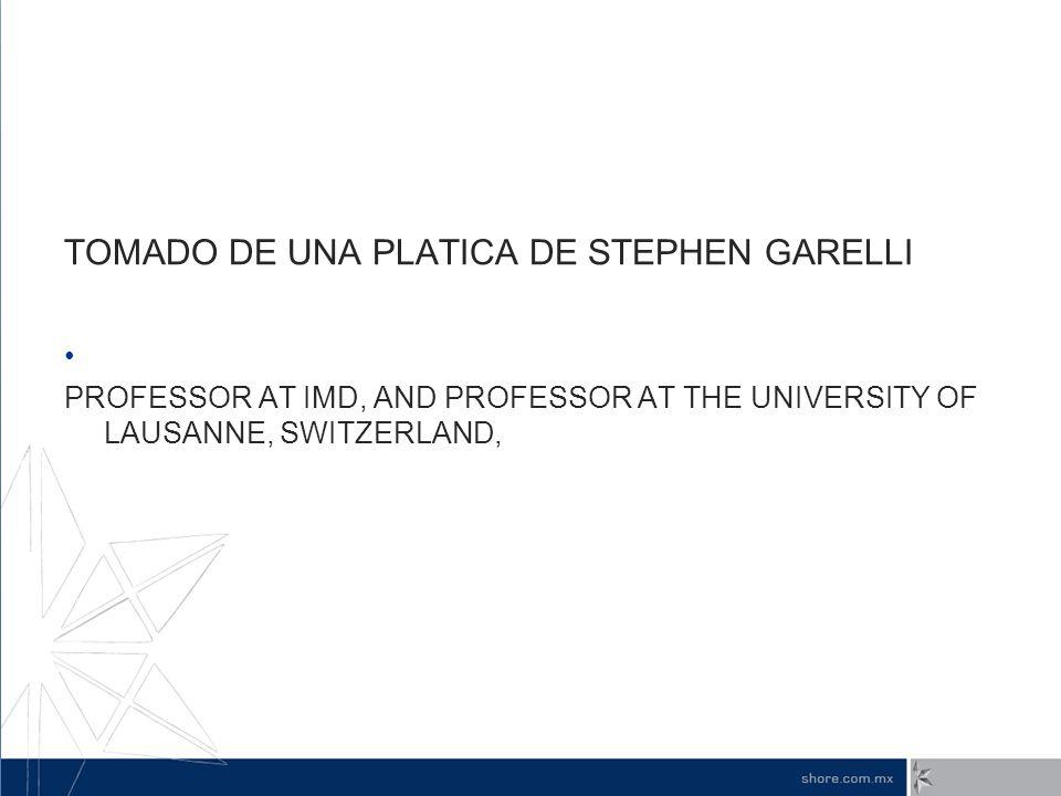 TOMADO DE UNA PLATICA DE STEPHEN GARELLI
