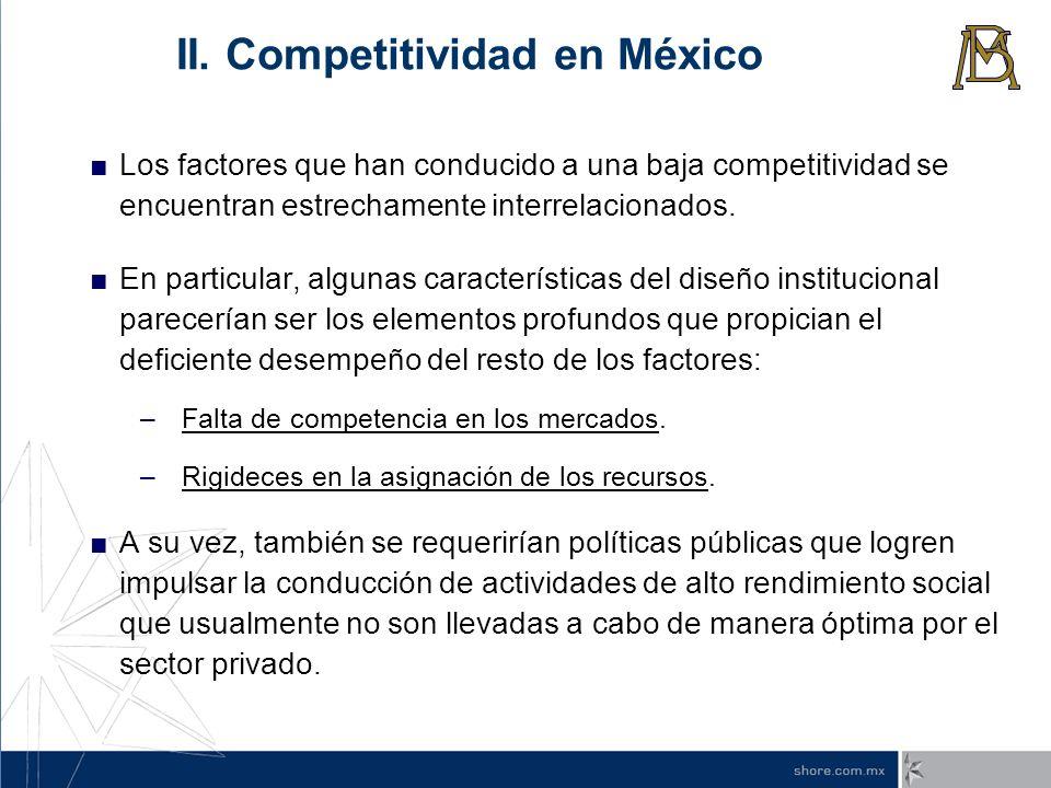 II. Competitividad en México