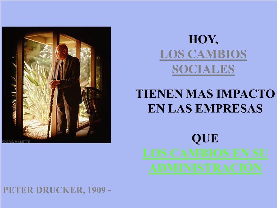 HOY, LOS CAMBIOS SOCIALES TIENEN MAS IMPACTO EN LAS EMPRESAS QUE