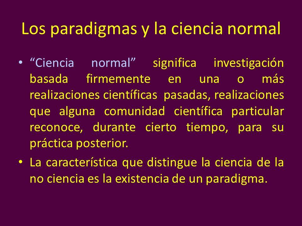 Los paradigmas y la ciencia normal