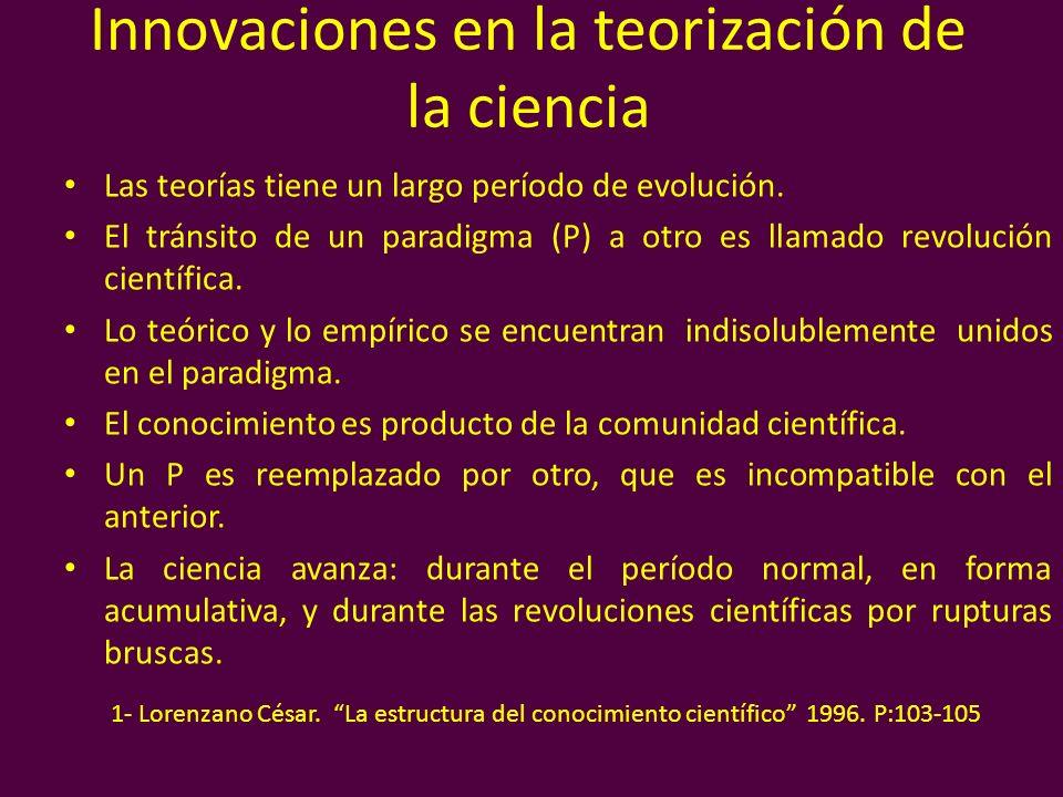 Innovaciones en la teorización de la ciencia