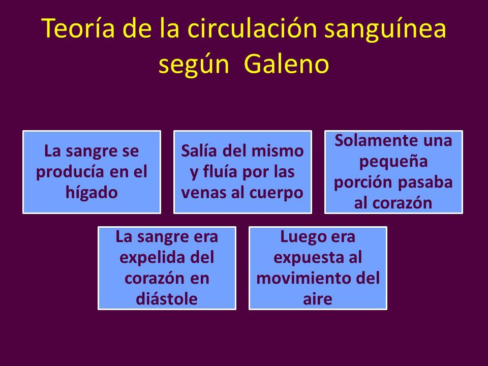 Teoría de la circulación sanguínea según Galeno