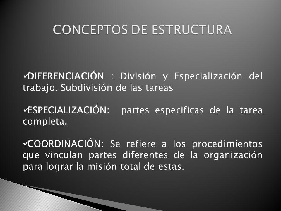 CONCEPTOS DE ESTRUCTURA