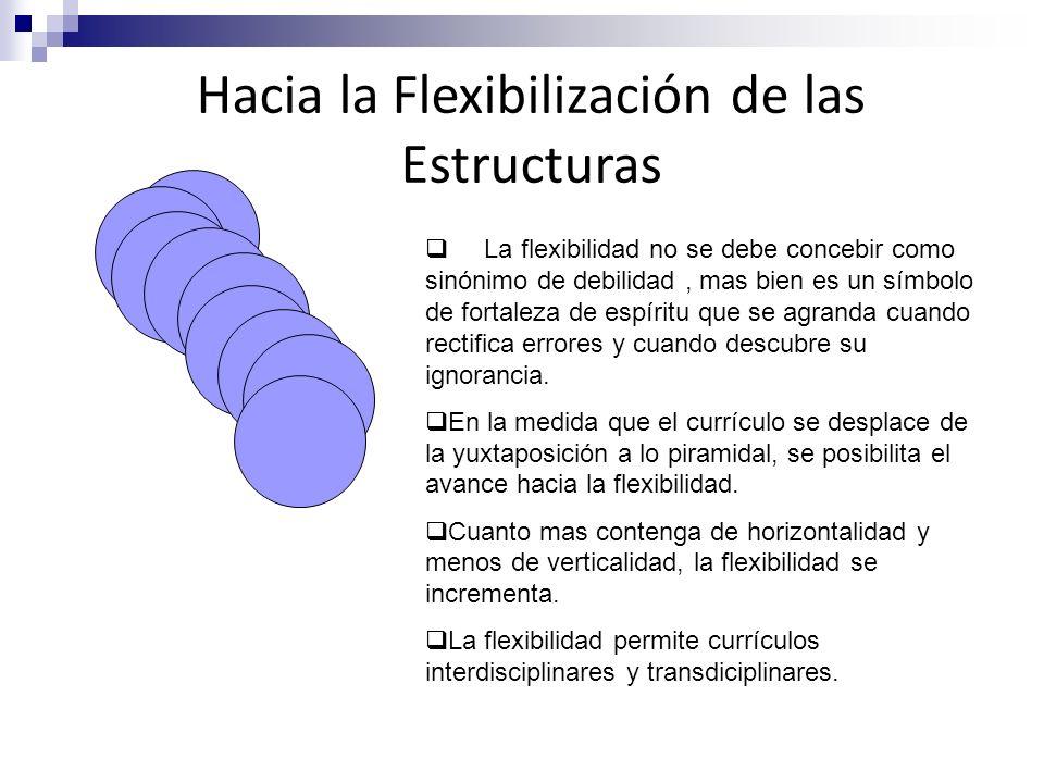 Hacia la Flexibilización de las Estructuras