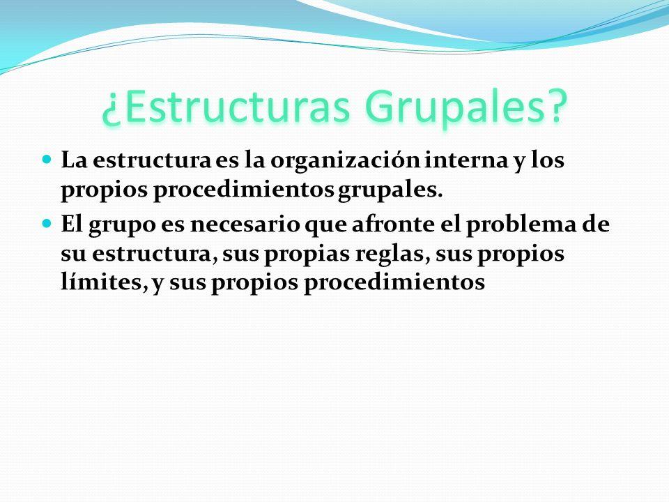 ¿Estructuras Grupales