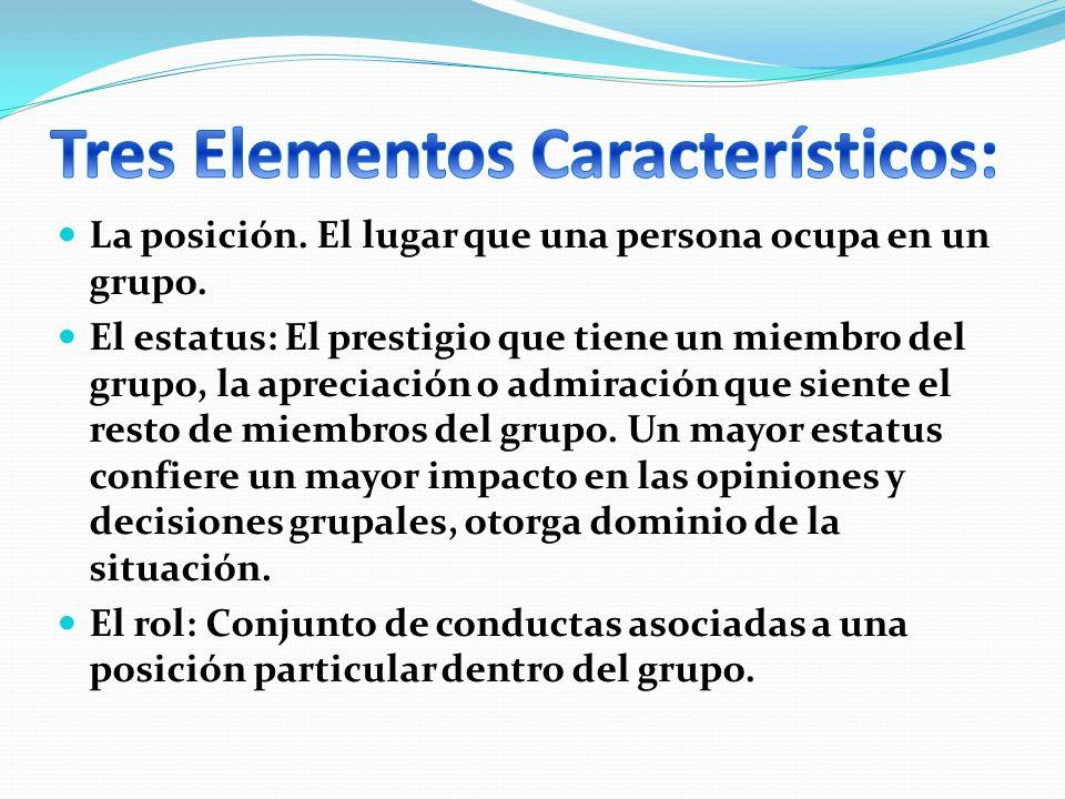Tres Elementos Característicos:
