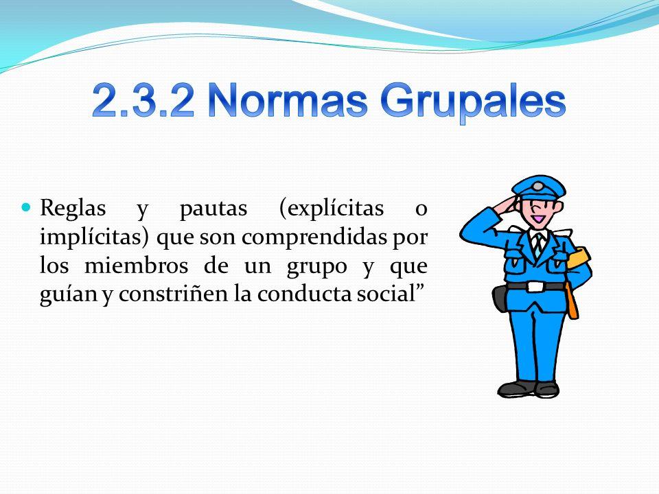 2.3.2 Normas Grupales