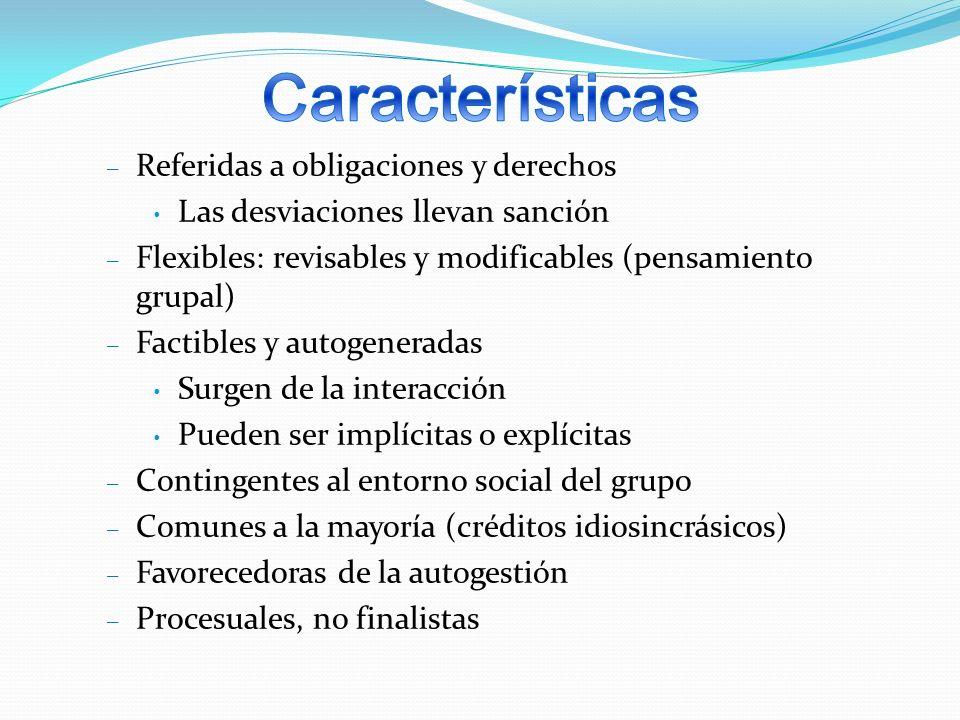 Características Referidas a obligaciones y derechos