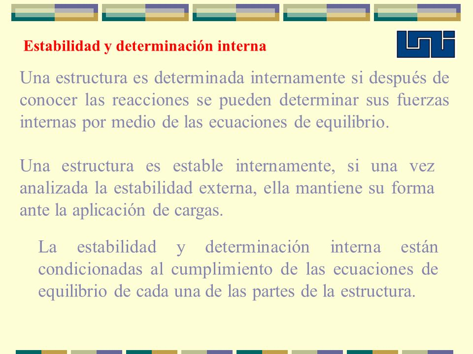 Estabilidad y determinación interna