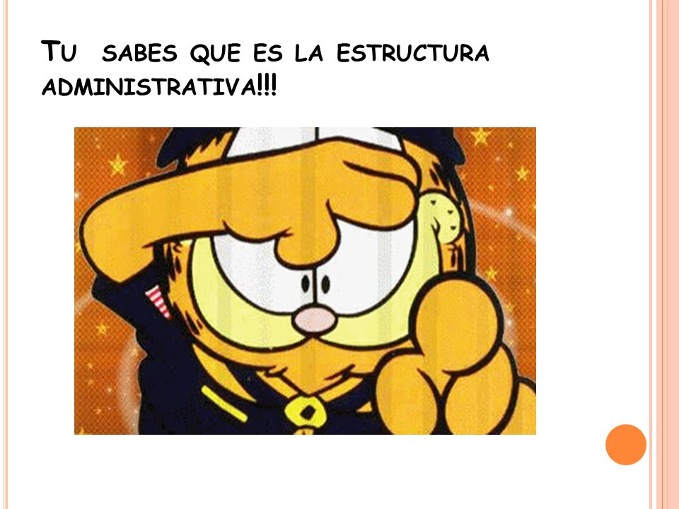Tu sabes que es la estructura administrativa!!!