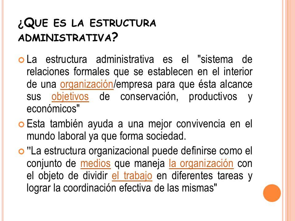 ¿Que es la estructura administrativa