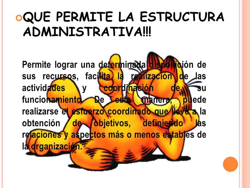 QUE PERMITE LA ESTRUCTURA ADMINISTRATIVA!!!