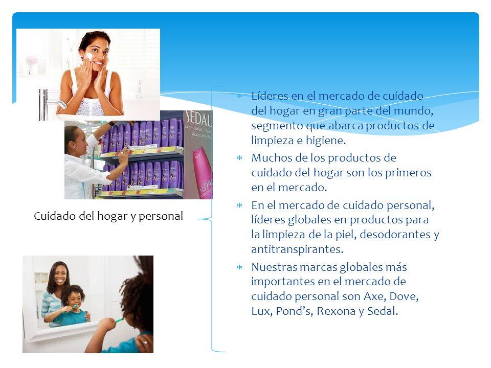 Líderes en el mercado de cuidado del hogar en gran parte del mundo, segmento que abarca productos de limpieza e higiene.
