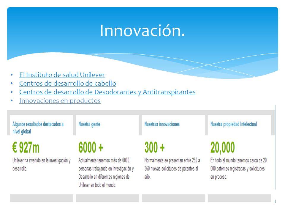 Innovación. El Instituto de salud Unilever
