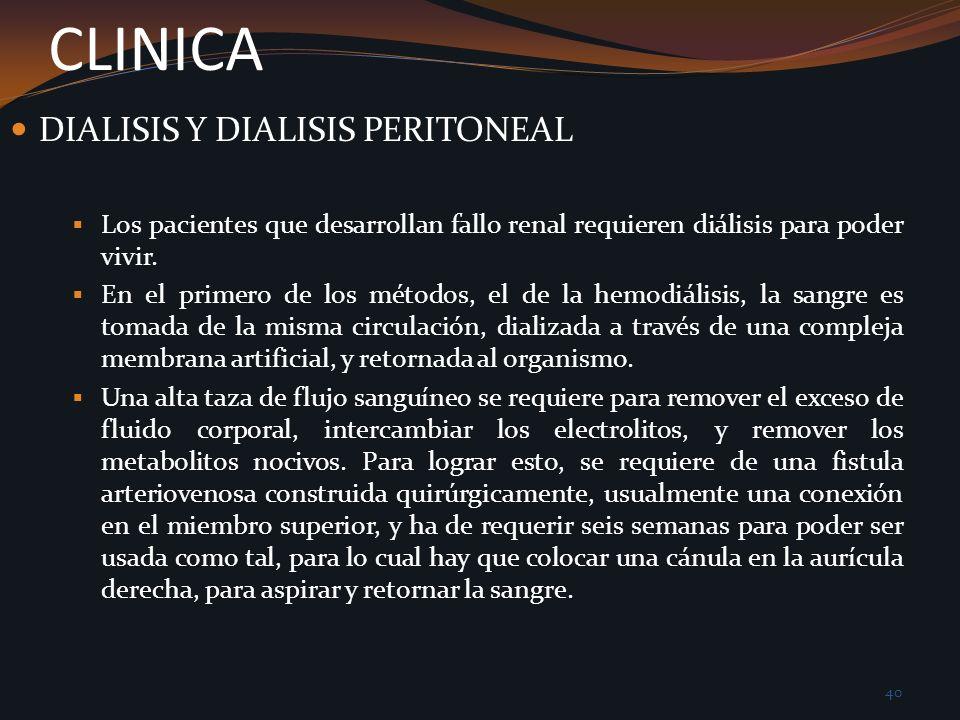 CLINICA DIALISIS Y DIALISIS PERITONEAL