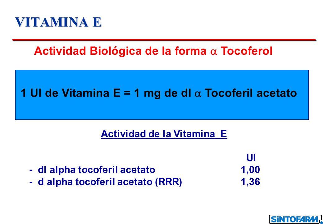 Actividad de la Vitamina E
