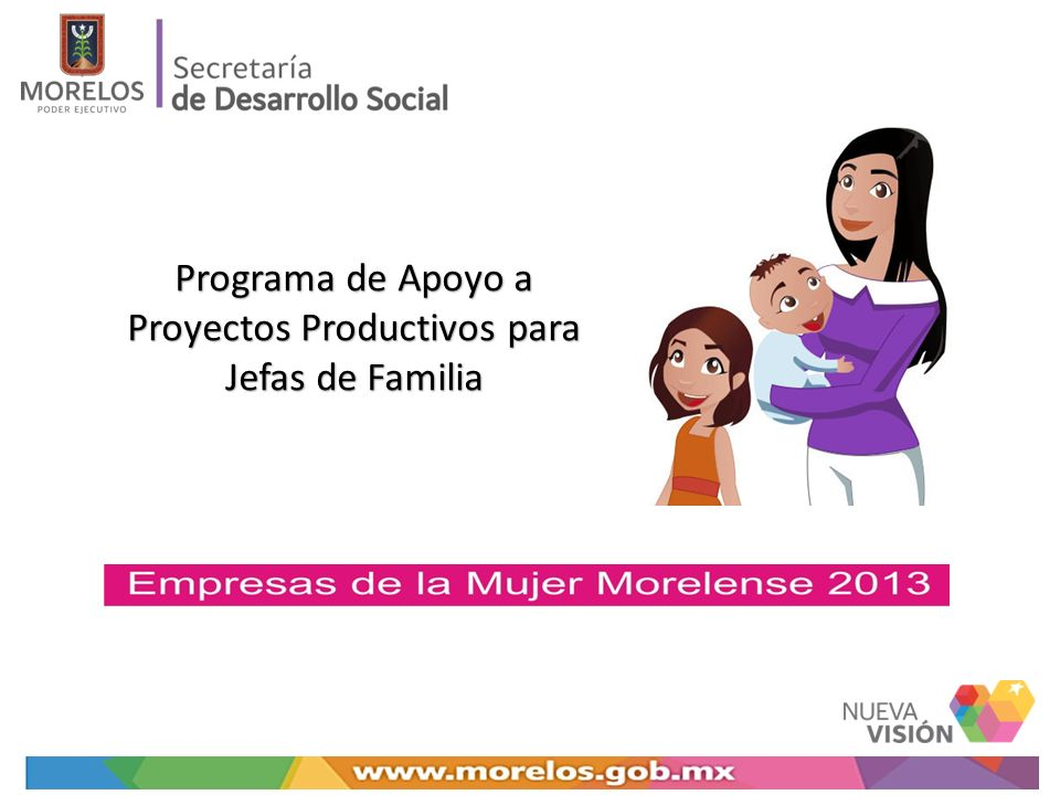 Programa de Apoyo a Proyectos Productivos para Jefas de Familia