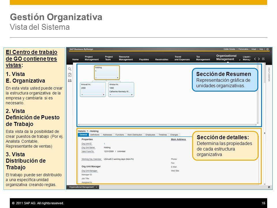 Gestión Organizativa Vista del Sistema