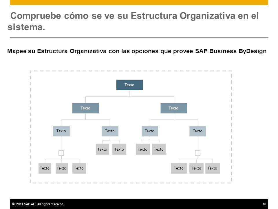 Compruebe cómo se ve su Estructura Organizativa en el sistema.