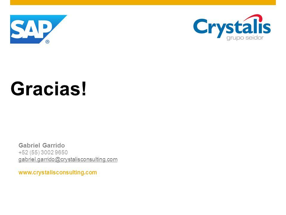 Gracias! Gabriel Garrido +52 (55) 3002 9650